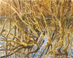 'Ditchfield Pond' (2016), oil on linen, 40 x 50cm