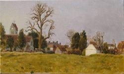 'Lane End Village' (2016), oil on linen,