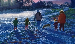 'The Walk' (2010), Oil on canvas, 60cm x 100cm x 2cm